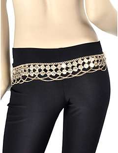 Belly Dance Belt Women's Training Metal Coins 1 Piece Belt