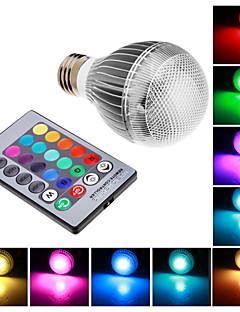 E26/E27 9 W Integrate LED RGB LM RGB Remote-Controlled Globe Bulbs AC 85-265 V