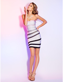 TS Couture® Cocktail Party / Holiday Dress - Multi-color Petite Sheath/Column Strapless Short/Mini Rayon