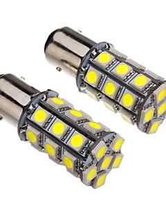 1157 4W 27x5050SMD 330-360LM 6000-6500K Cool White Light LED Bulb for Car (12V)