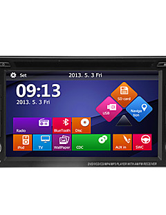 "6.2 ""2DIN ecran LCD sensibil in-dash auto dvd player cu GPS, bluetooth, ipod, atv"