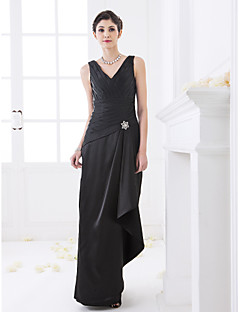 LAN TING BRIDE Floor-length V-neck Bridesmaid Dress - Elegant Sleeveless Stretch Satin