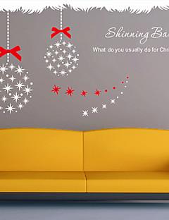 Vacaciones de Navidad brillante bola pegatinas de pared