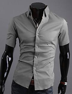 Shangdu Herren Kurzarm Abnehmen Shirt (Grau)
