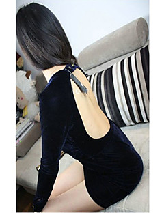 Low Cut Hip Backless pack robe bleue de Fashiongirl femmes
