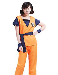 Inspiriert von Dragon Ball Goku Anime Cosplay Kostüme Cosplay Kostüme Patchwork Orange Kurze Ärmel Weste / T-Shirt-Ärmel / Hosen / Gürtel