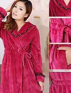 Bademantel, High-Class-Frau Lila Solid Color Garment Bademantel verdicken