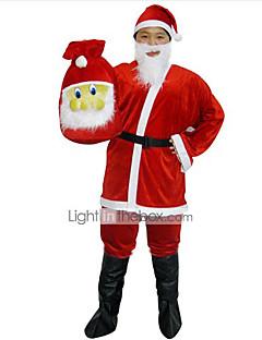 Cosplay Kostüme Santa Anzüge Fest/Feiertage Halloween Kostüme Top / Hosen / Gürtel / Hut Weihnachten Mann Samt