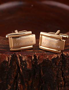 gift groomsman gepersonaliseerde gouden manchetknopen