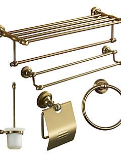 Bad Accessoire Set, Antieke 5 Stuk Anodiseren Aluminium Hardware Set