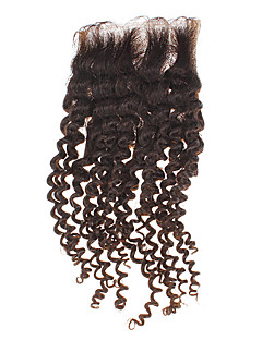 "12 ""100% echt haar Kinky Curly Natural Black Hair Piece"