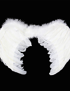 Carnival White Angels Feather Wings