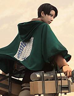 에서 영감을 받다 Attack on Titan Levy 애니메이션 코스프레 의상 코스프레상의 / 하의 패치 워크 녹색 외투