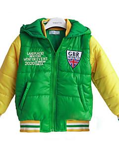 Jiumufang Детские Контрастность Цвет пальто на вате (зеленый)