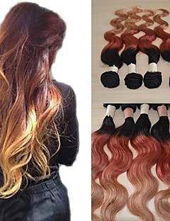 20Inch Great 5A Brazilian Virgin Human Hair Body Wave Ombre Hair Extension/Weave(1b/33#/27#)