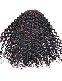 10inch 3Pcs brésilien Vierge Kinky Curl cheveux Natural Black trame de cheveux