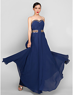 Formal Evening/Military Ball Dress - Dark Navy Plus Sizes A-line Sweetheart Ankle-length Georgette