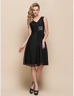 A-line V-neck Knee-length Chiffon Cocktail Dress 929958