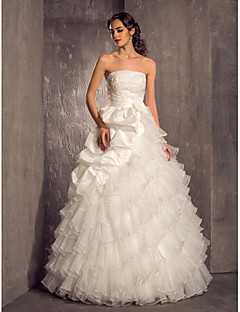 Lanting Bride® Princess Petite / Plus Sizes Wedding Dress - Classic & Timeless / Glamorous & Dramatic Vintage Inspired Floor-length