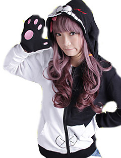 Inspired by Dangan Ronpa Monokuma Video Game Cosplay Costumes Cosplay Hoodies Patchwork Black Long Sleeve Coat