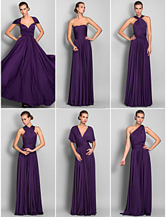 Lanting Mix&Match Convertible Dress Floor-length Jersey Sheath/Column Dress (633753)