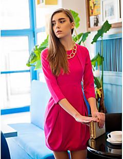 TS Pleats Collar Puff Tulip Dress