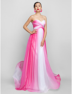 TS Couture® Formal Evening / Prom / Military Ball Dress - Fuchsia Plus Sizes / Petite A-line Sweetheart Floor-length Chiffon