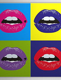 Stretched Canvas Art Pop Art People Pop Art of Sexy Lips Ready to Hang