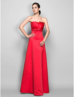 TS Couture® Prom / Formal Evening / Military Ball Dress - Open Back Plus Size / Petite A-line Scalloped Floor-length Satin withCrystal Detailing /