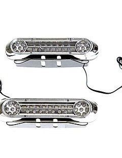 2 Universal White 28 LED Daytime Running Light DRL Car Fog Day Driving Lamp