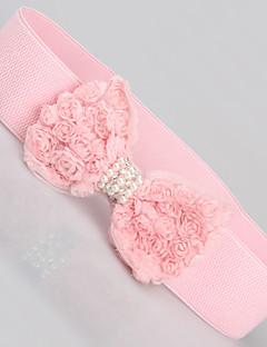 Kvinder Fashion søde perle Bowknot Belt
