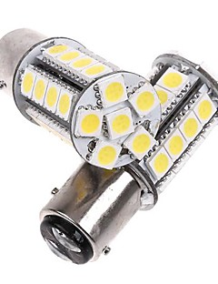 2 Pcs 1157/Bay 15d White 30 5050 SMD LED Car Brake Stop Lamp Light Bulb