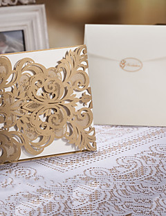 """Niet-gepersonaliseerde Poort-Vouw Uitnodigingen van het Huwelijk Uitnodigingskaarten-50 Stuk/Set Bloemen Stijl Kunst Papier6 1/4""""×6 1/4"""""""