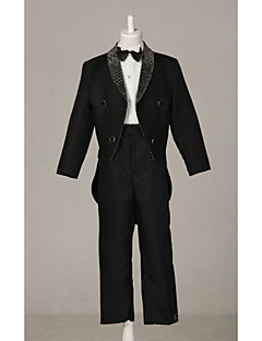 Polester/Cotton Blend Ring Bearer Suit - 4 Pieces Includes  Jacket / Shirt / Pants / Bow Tie