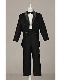 תערובת פוליאסטר / כותנה חליפה לנושא הטבעת - 4 חתיכות כולל ג'קט / חולצה / מכנסיים / עניבת פרפר