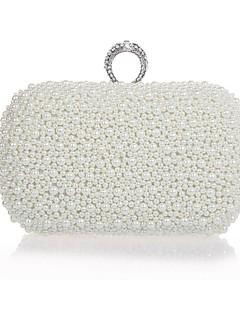 Metal Bryllup / Special Occasion koblinger / aften håndtasker med rhinestones / imitationer af naturperler (flere farver)
