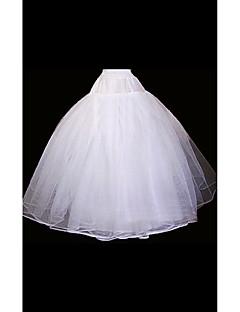 תחתונית  סליפ שמלת נשף אורך עד לרצפה 2 אורגנזה לבן