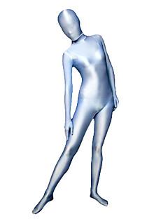 Zentai Suits Ninja Zentai Cosplay Costumes Silver / Blue Solid Leotard/Onesie / Zentai Spandex Lycra Unisex Halloween / Carnival