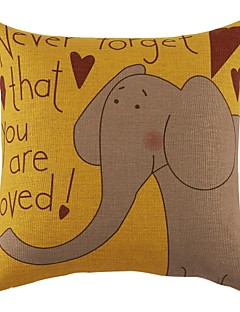 """18 """"Elephant Imprimer toile de coton coussin décoratif couverture"""