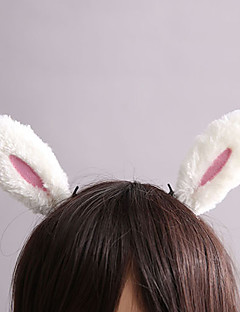 Cute Bunny White Furry Sweet Lolita Barrette