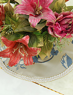 Ensemble de 4 Poly soie floraux bleus Sets
