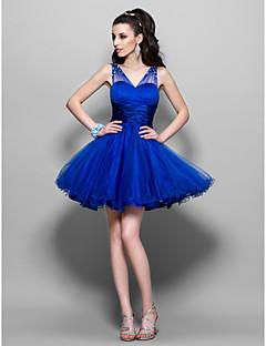 שמלת קוקטייל אונליין מתוקה קצרה / מיני טול