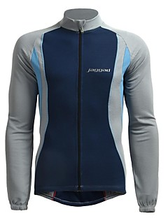 JAGGAD® Cycling Jersey Men's Long Sleeve Bike Breathable / Thermal / Warm / Quick Dry Jersey / Tops Polyester / Elastane PatchworkSpring