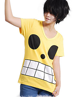Inspirovaný One Piece Monkey D. Luffy Anime Cosplay kostýmy Cosplay Topy / Bottoms Tisk Żółty Trička