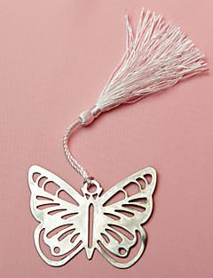 실크 술의 결혼식 호의와 금속 나비 즐겨 찾기