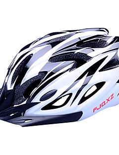 FJQXZ EPS+PC Black and White Integrally-molded Cycling Helmet(18 Vents)