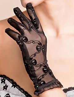 Wrist Length Fingertips Glove Lace Bridal Gloves / Party/ Evening Gloves Spring / Summer / Fall