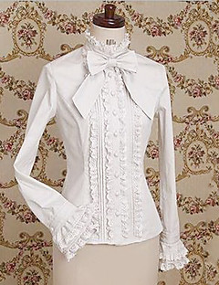 Long Sleeve Cotton Classic Lolita Blouse with Big Bow