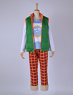 Inspireret af Free! Haruka Nanase Anime Cosplay Kostumer Cosplay Suits Patchwork Grøn Top / Bukser / Mere Tilbehør