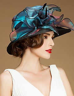 Women's / Flower Girl's Flax / Organza / Silk Headpiece-Special Occasion / Casual / Outdoor Hats